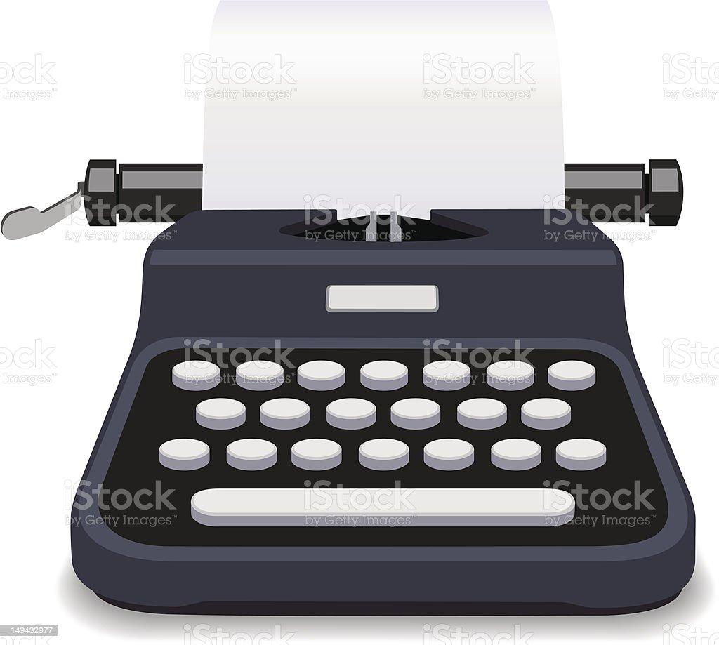 Typewriter Black Vector royalty-free stock vector art