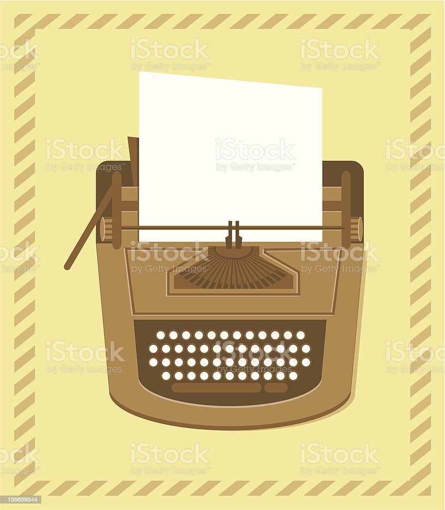 typewriter in retro style royalty-free stock vector art