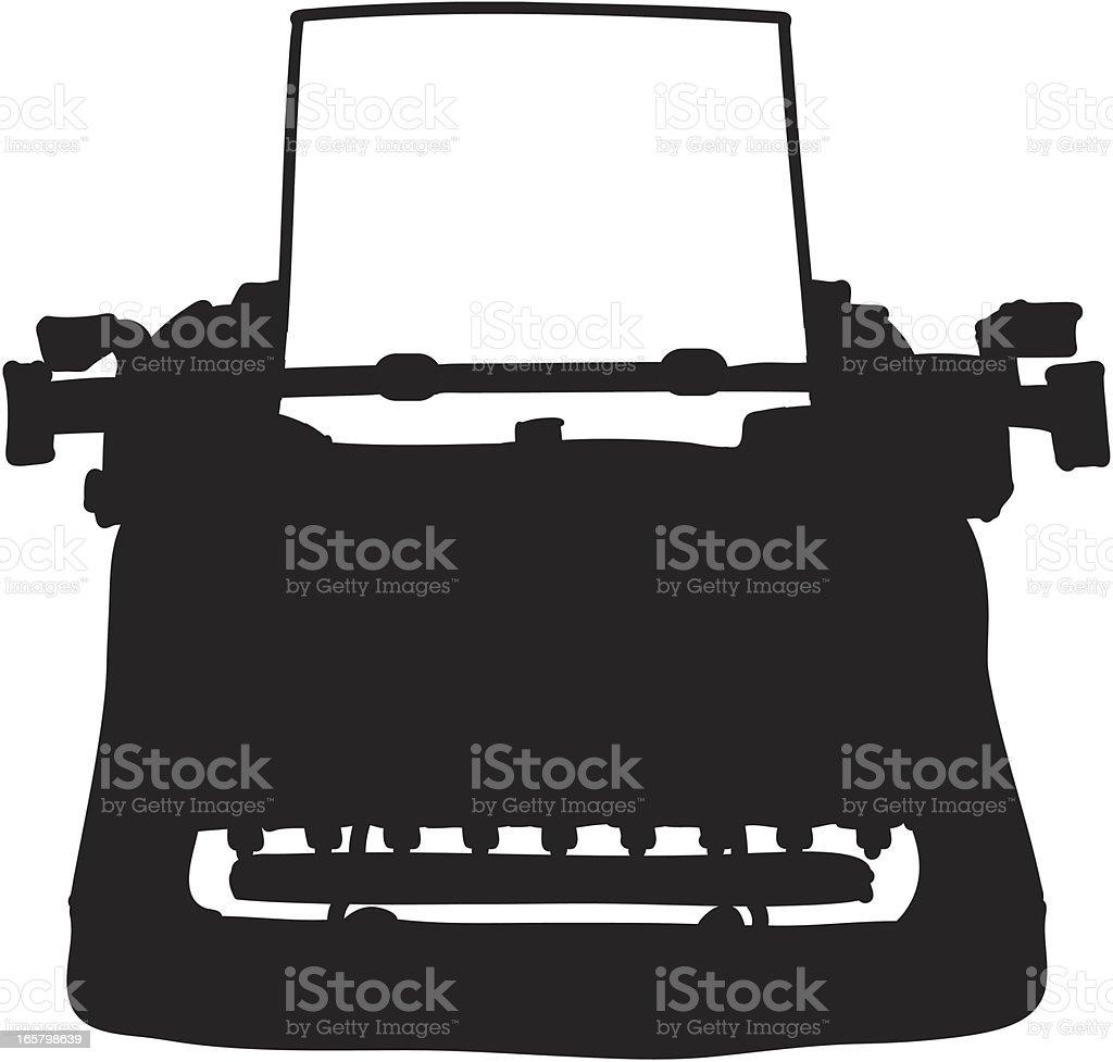 Typewriter Silhouette vector art illustration