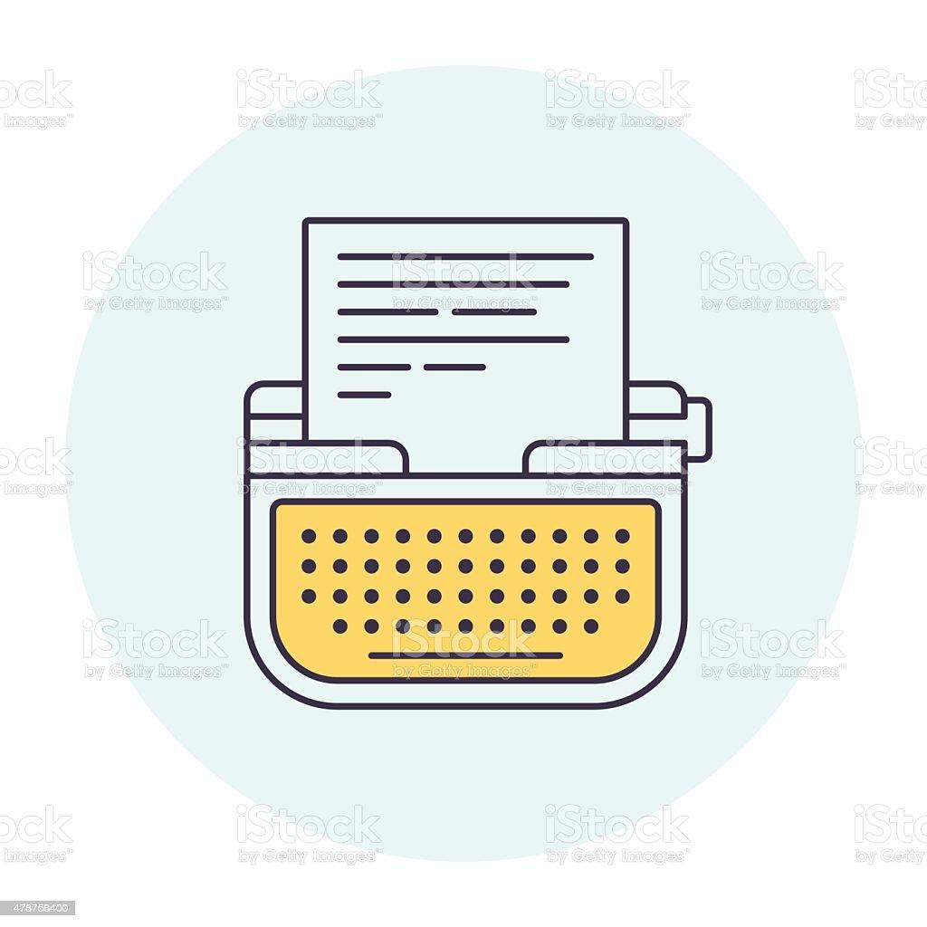 Typewriter Symbol vector art illustration