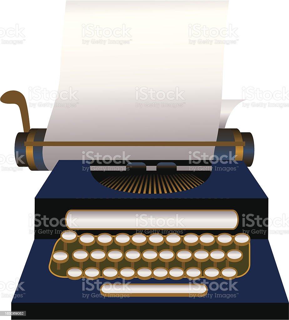 Typewriter royalty-free stock vector art