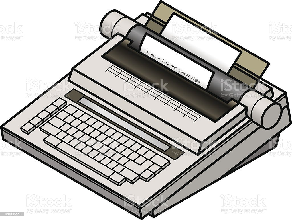 Typewriter royalty-free stock vector art