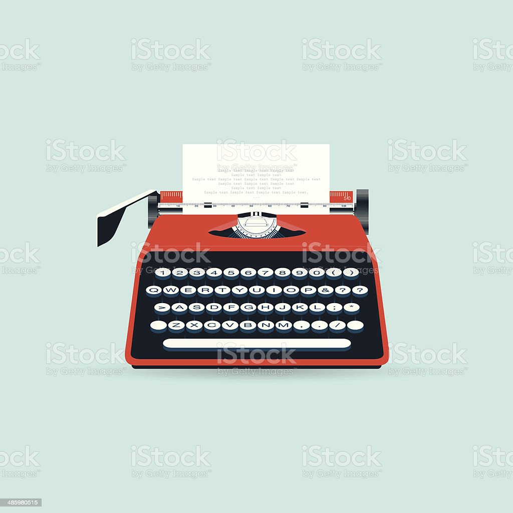 Typewriter vector art illustration