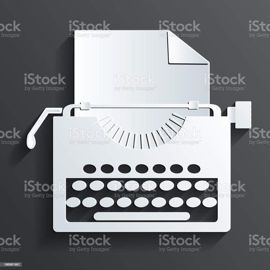 typewriter vector vector art illustration