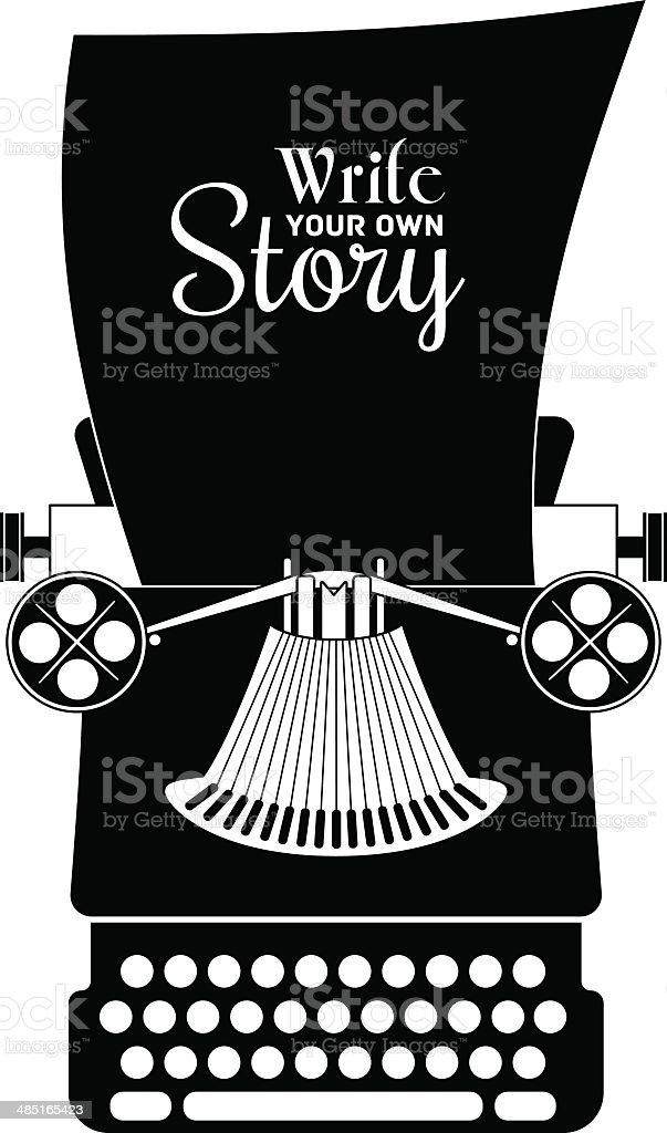 Typewriter vector vector art illustration