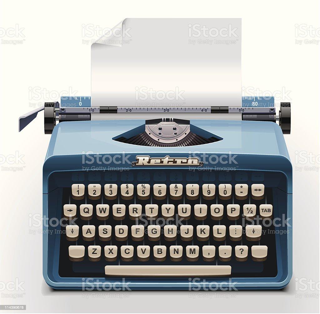 Typewriter XXL icon royalty-free stock vector art