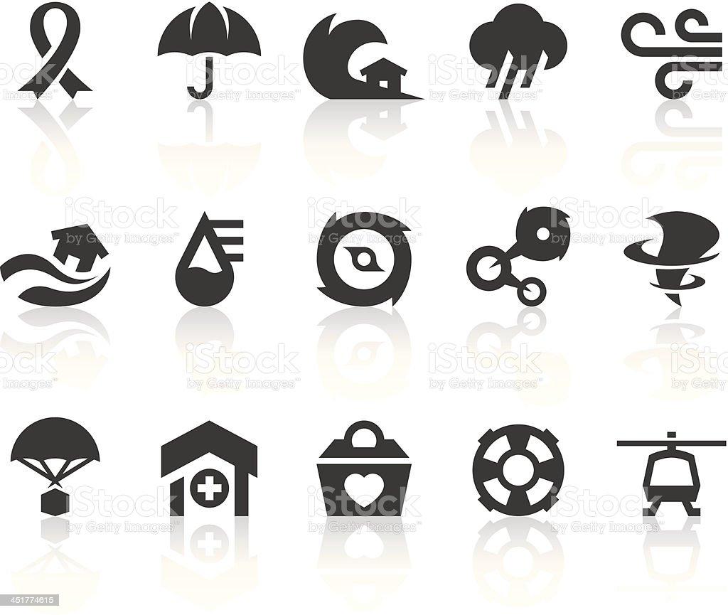 Typhoon Icons   Simple Black Series vector art illustration