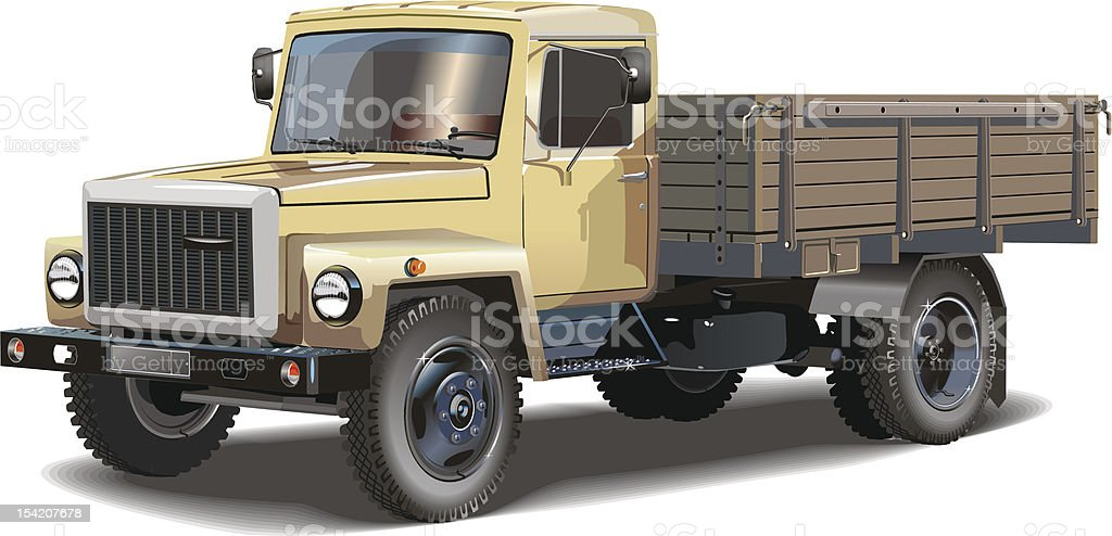 Typical Russian lorry royalty-free stock vector art