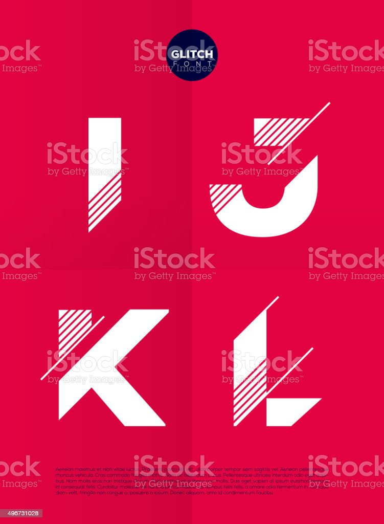 Typographic alphabet in a set with vibrant colors vector art illustration