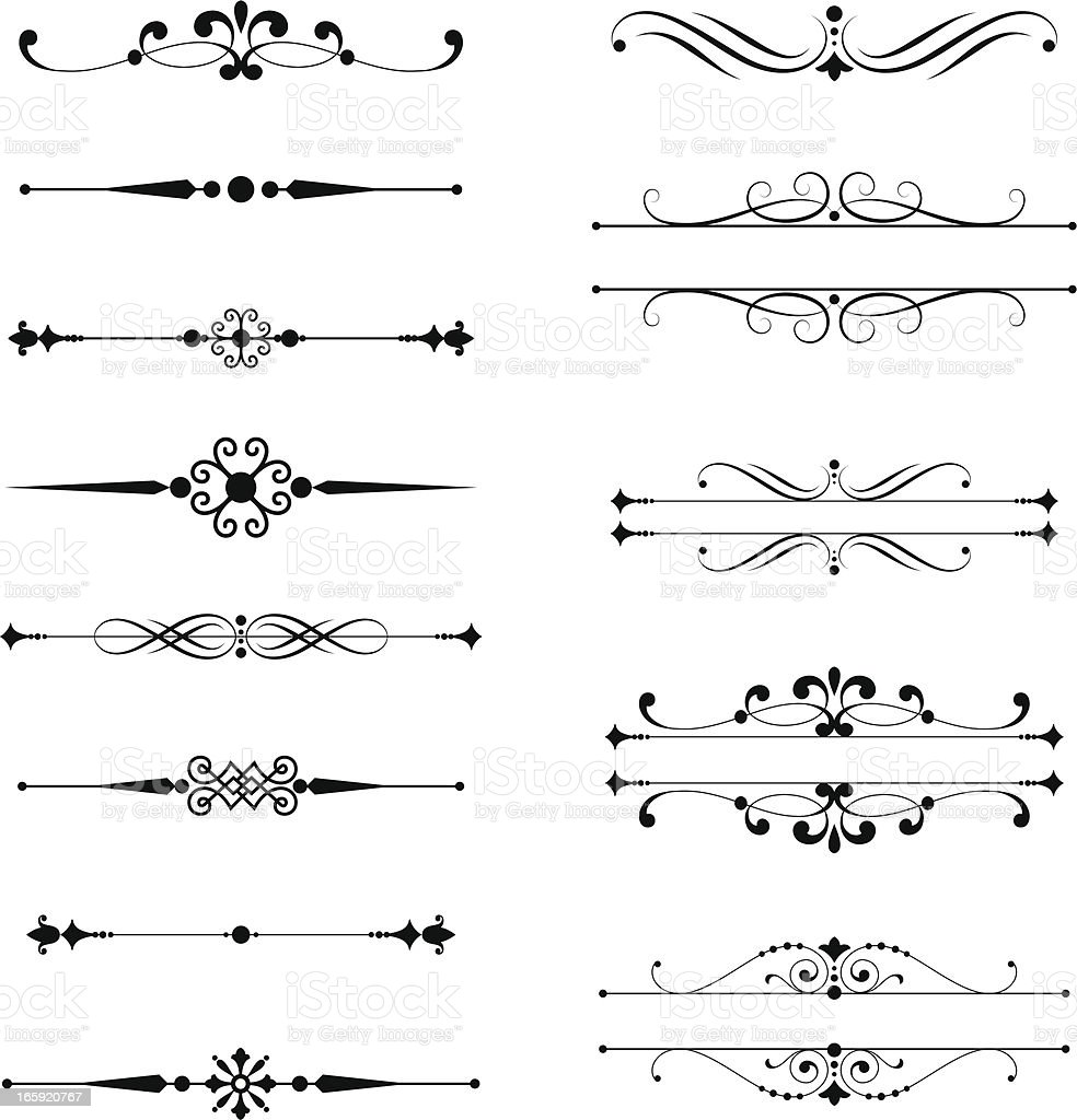 Typographic Ornaments royalty-free stock vector art