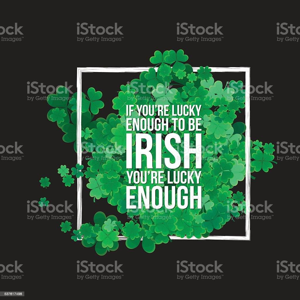 Typographic Saint Patrick's Day background vector art illustration