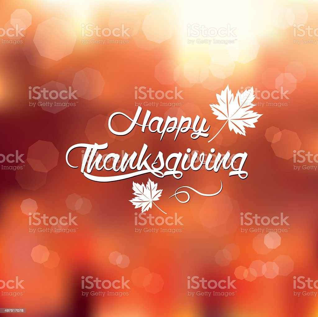 typography Happy Thanksgiving vector art illustration
