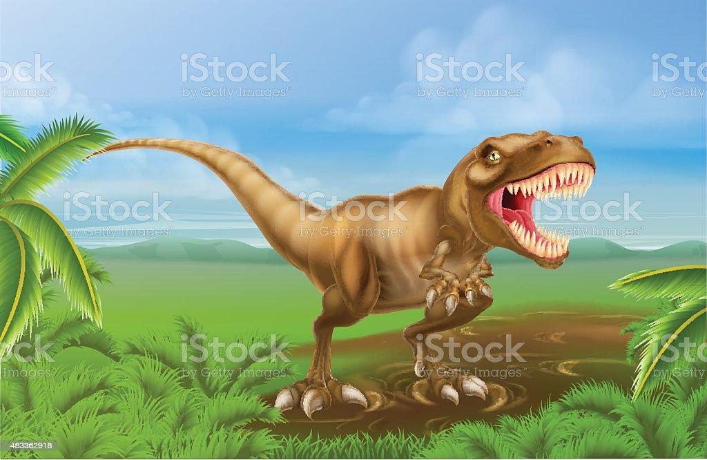 Tyrannosaurs Rex Dinosaur vector art illustration