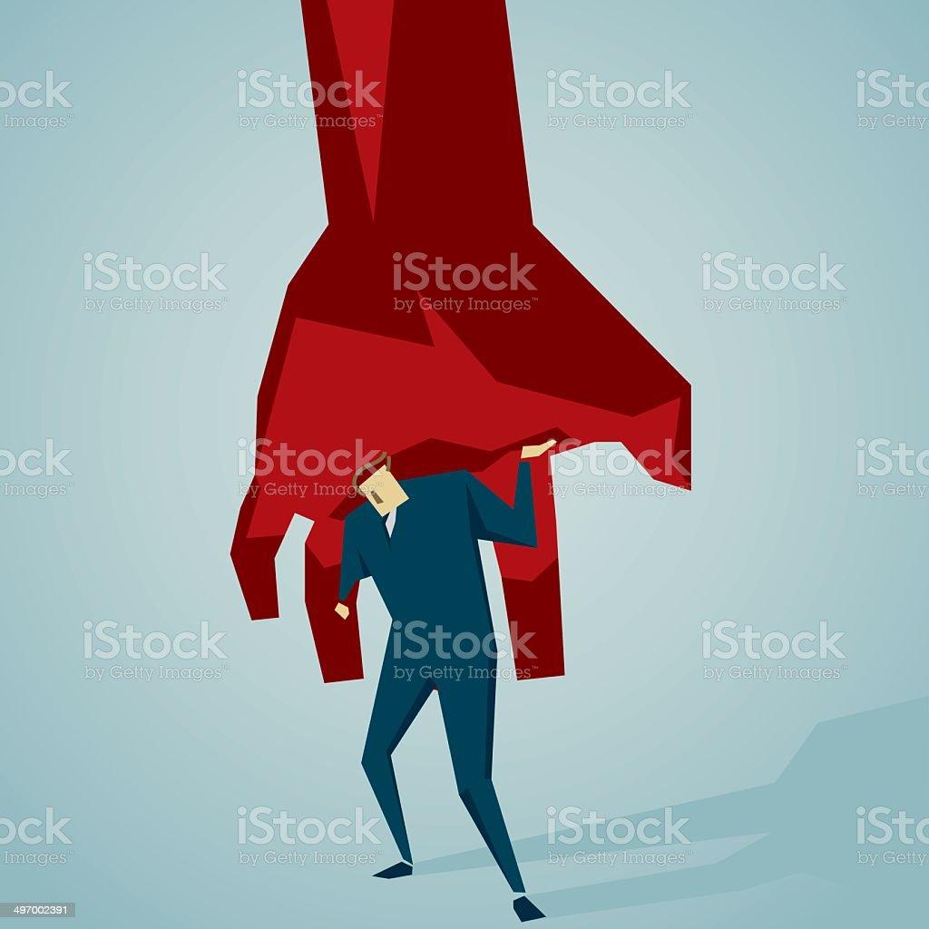tyrant vector art illustration