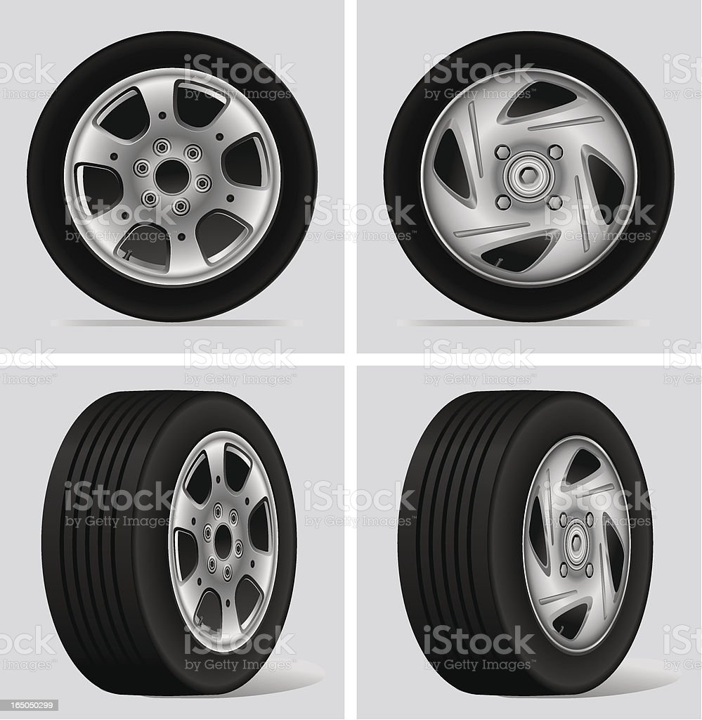 Tyre and RIm royalty-free stock vector art