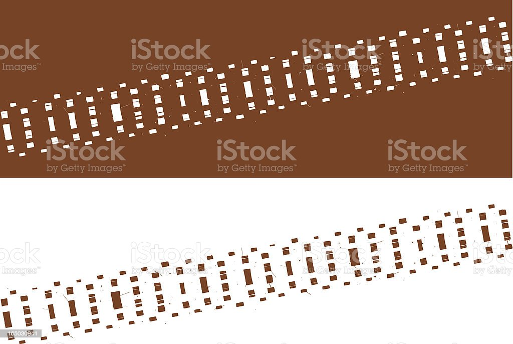 Tyre track royalty-free stock vector art