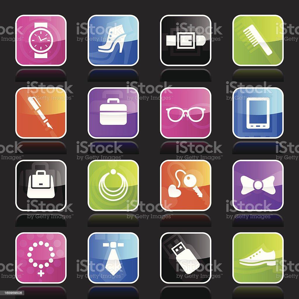 Ubergloss Icons - Accessories vector art illustration