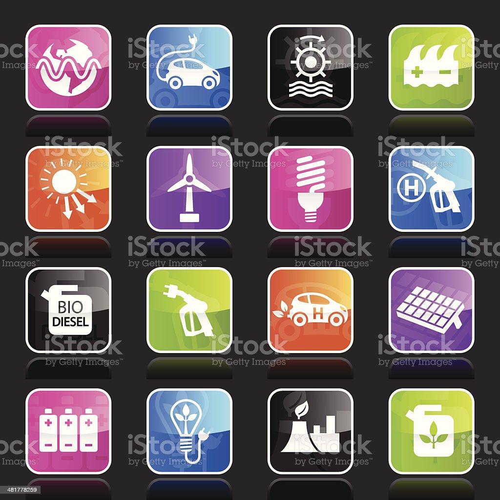 Ubergloss Icons - Alternative Energy royalty-free stock vector art