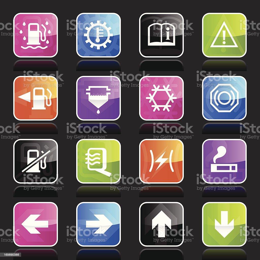 Ubergloss Icons - Car Control Indicators royalty-free stock vector art