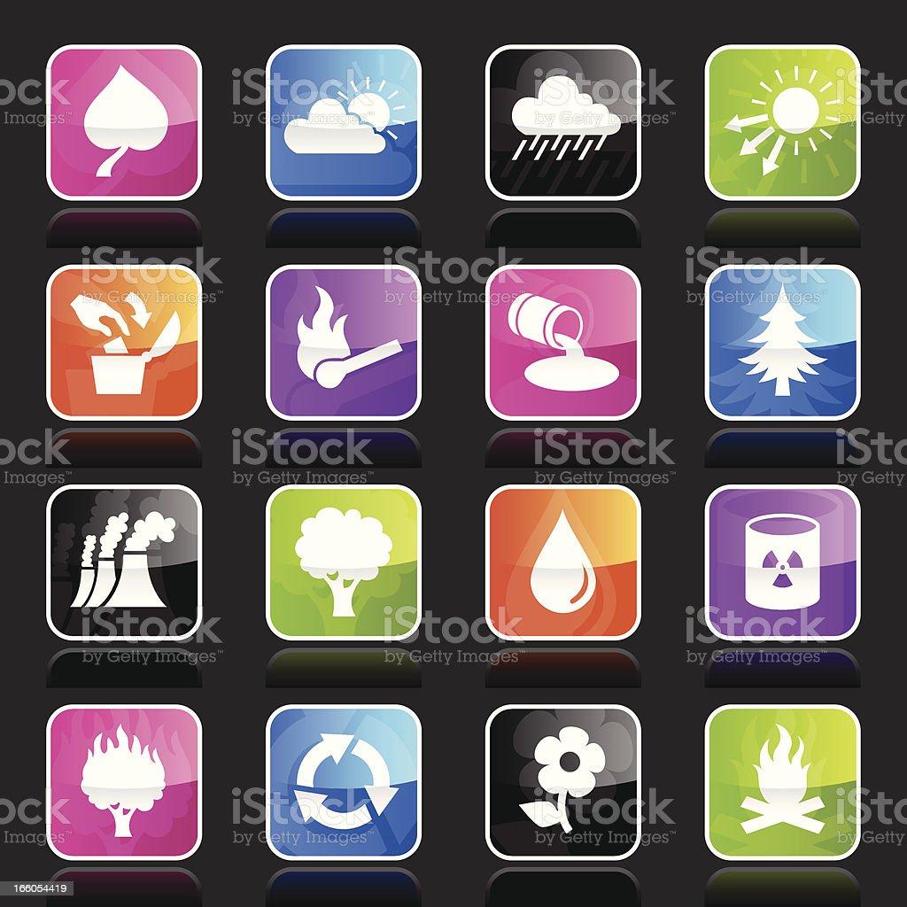 Ubergloss Icons - Eco royalty-free stock vector art