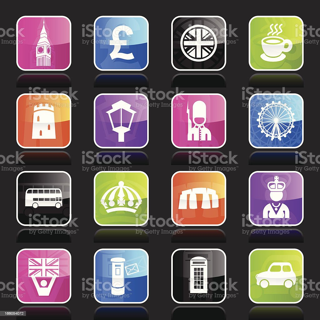 Ubergloss Icons - England royalty-free stock vector art