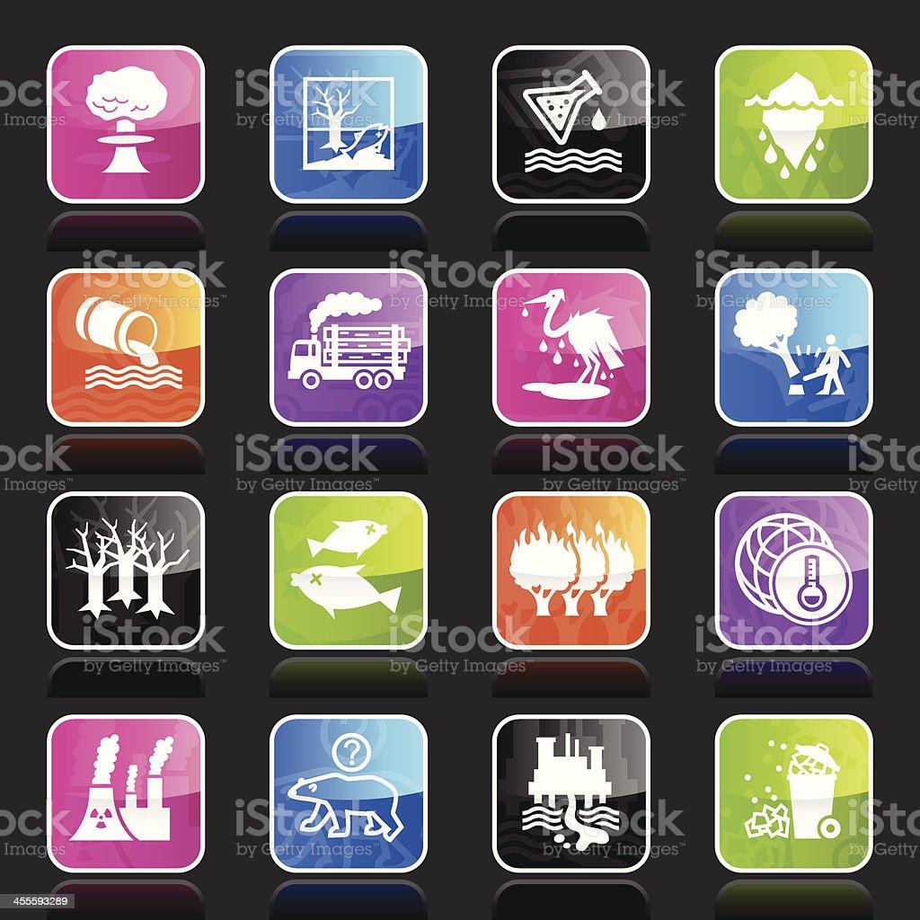 Ubergloss Icons - Environmental Damage royalty-free stock vector art