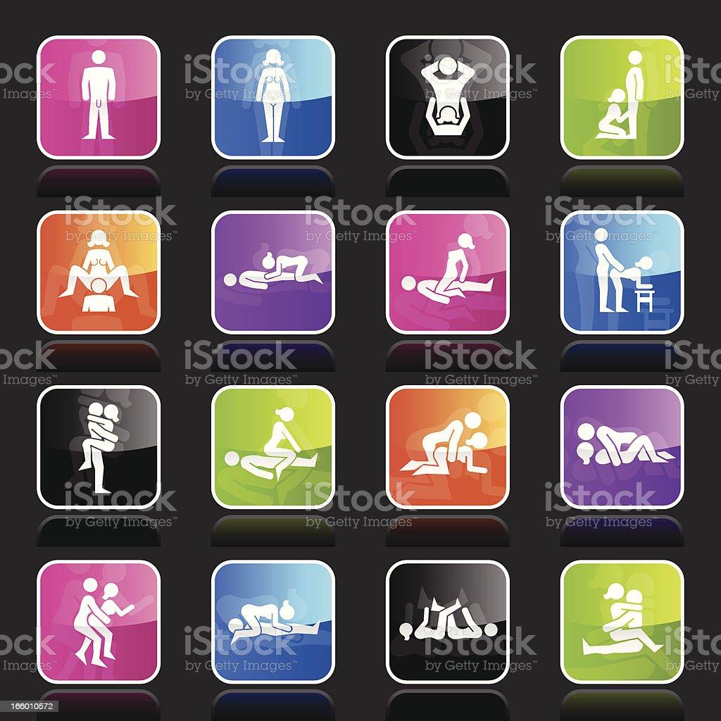 Ubergloss Icons - Erotic Positions vector art illustration