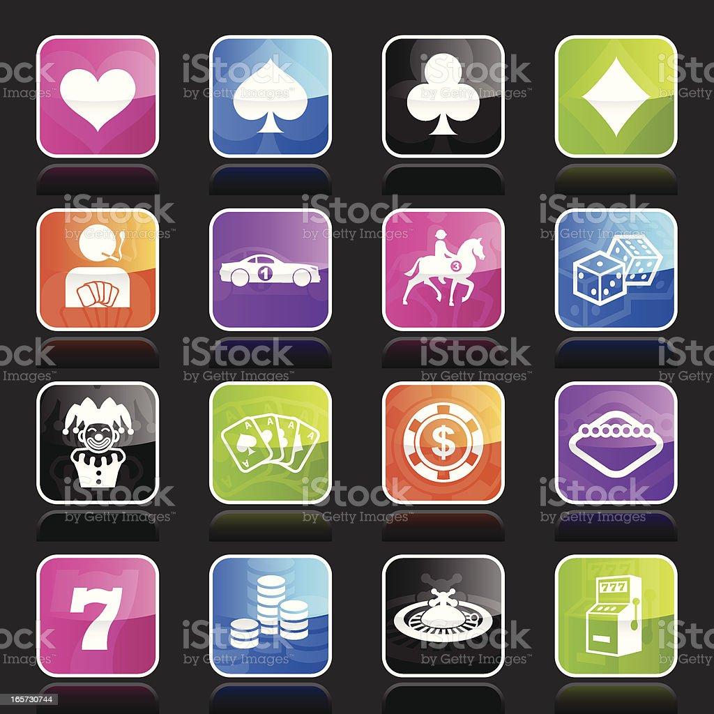 Ubergloss Icons - Gambling & Bets royalty-free stock vector art