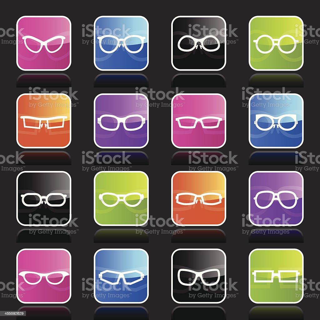 Ubergloss Icons - Glasses vector art illustration