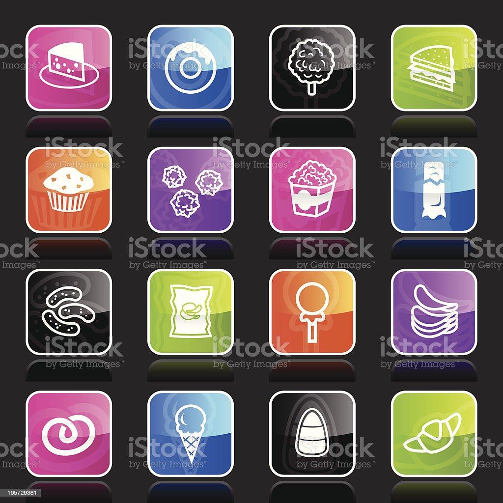 Ubergloss Icons -  Junk Food royalty-free stock vector art