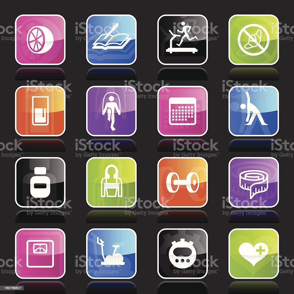 Ubergloss Icons - Loosing Weight vector art illustration