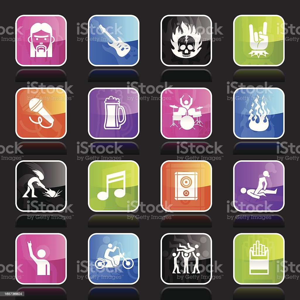 Ubergloss Icons - Rock Star royalty-free stock vector art