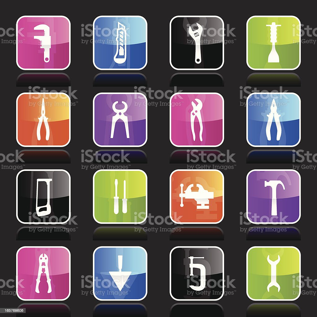 Ubergloss Icons - Tools vector art illustration