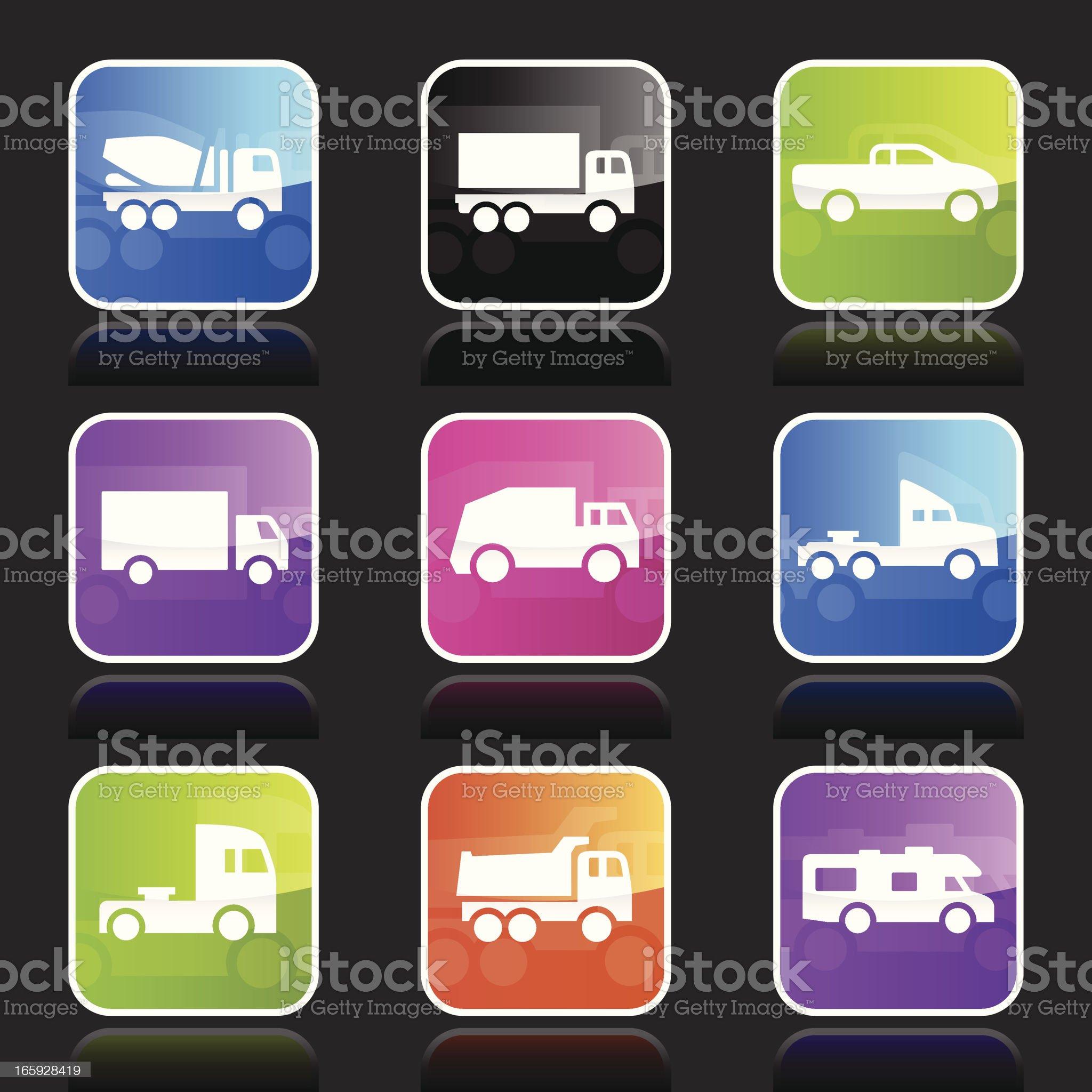 Ubergloss Icons - Trucks royalty-free stock vector art