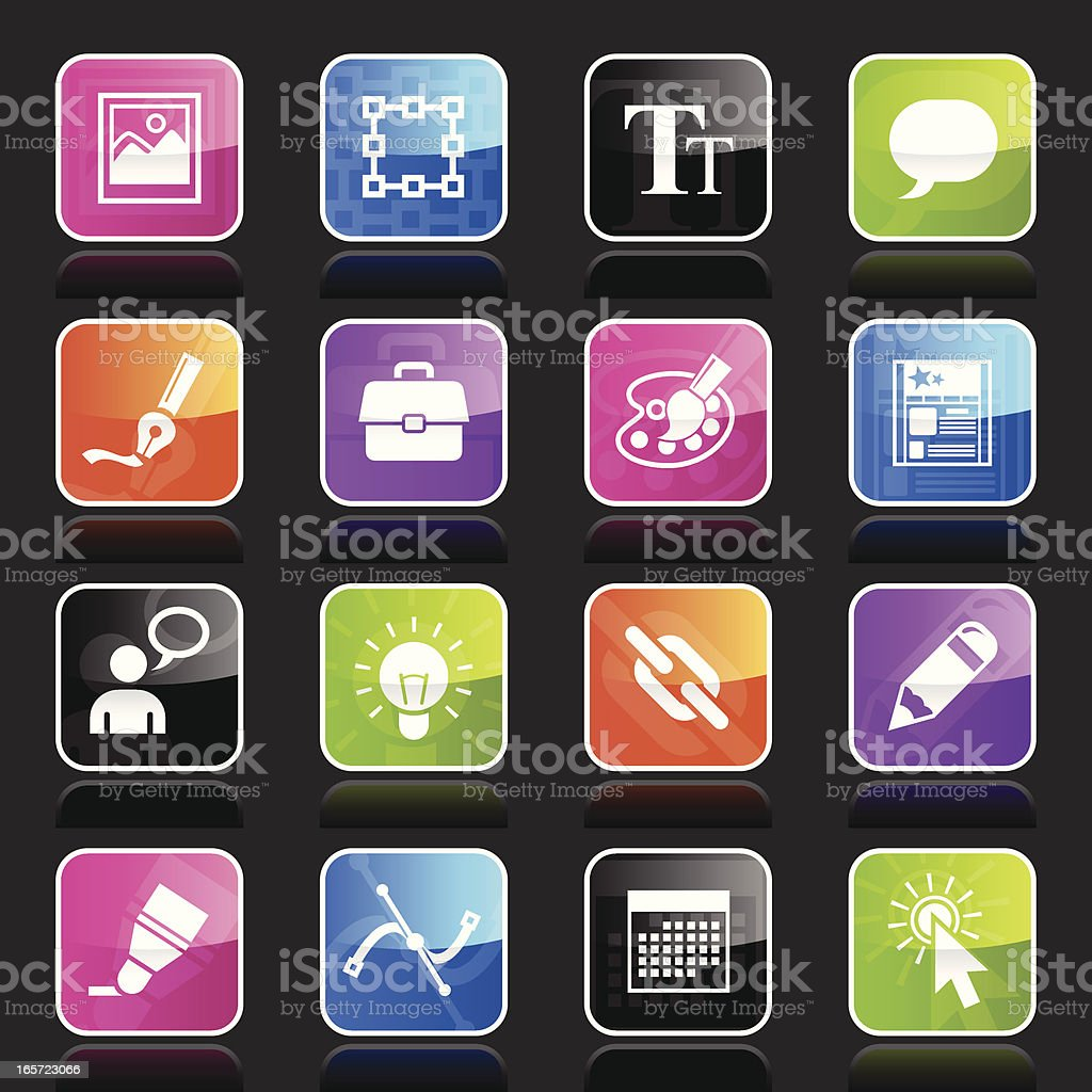 Ubergloss Icons - Web Design royalty-free stock vector art