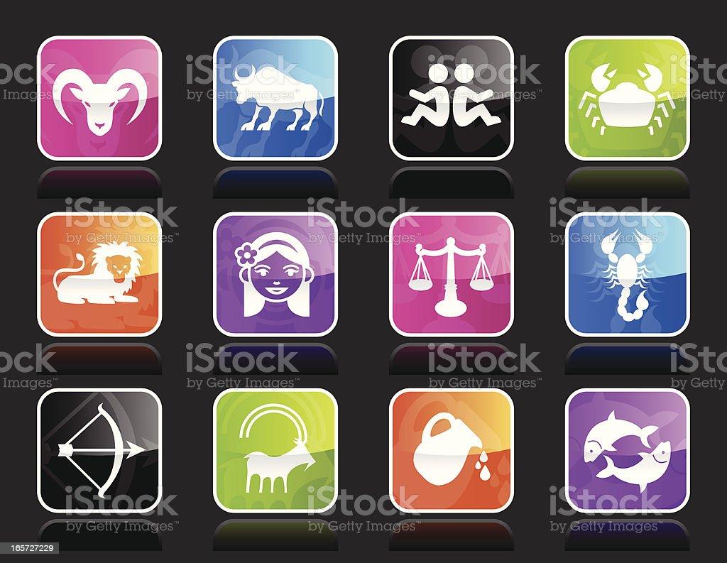Ubergloss Icons - Zodiac vector art illustration