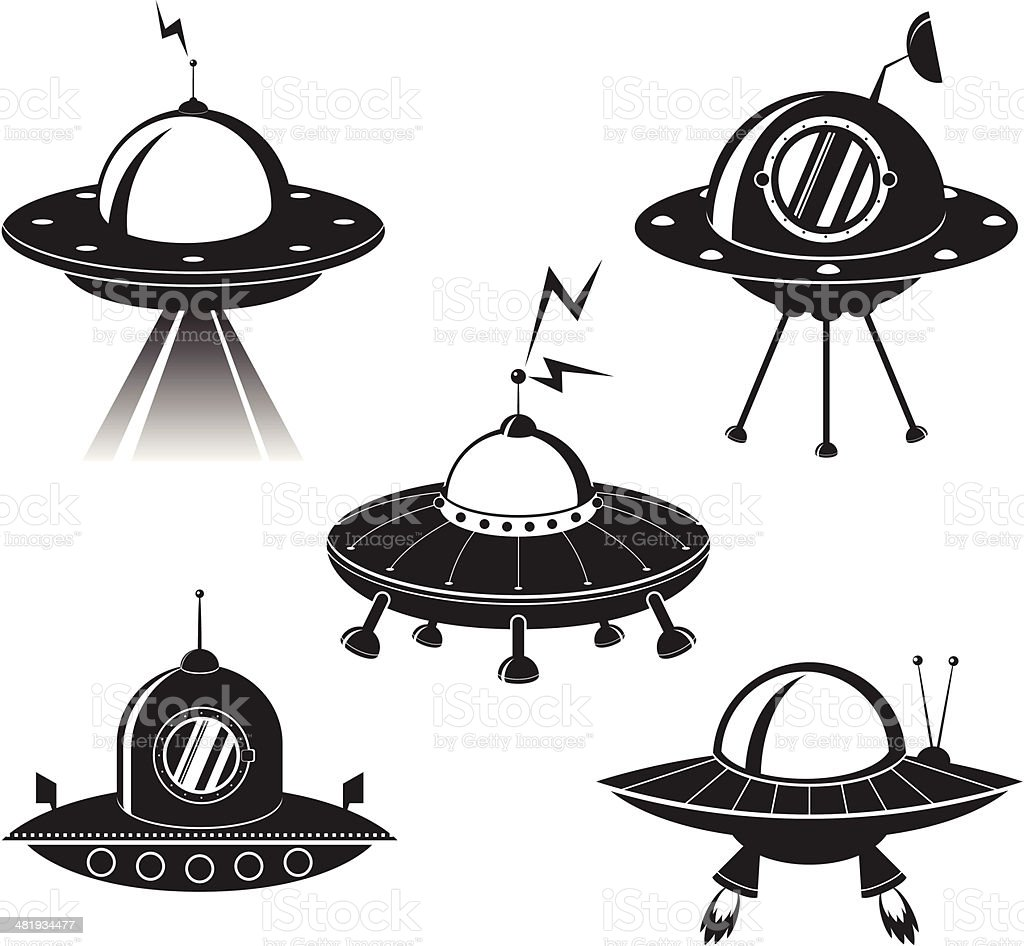 Ufo royalty-free stock vector art