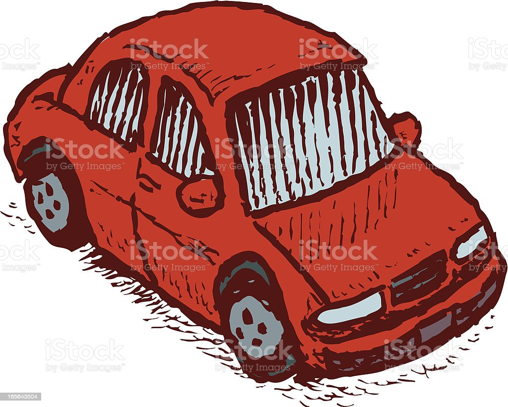 Ugly Car Automobile Vehicle Transportation royalty-free stock vector art