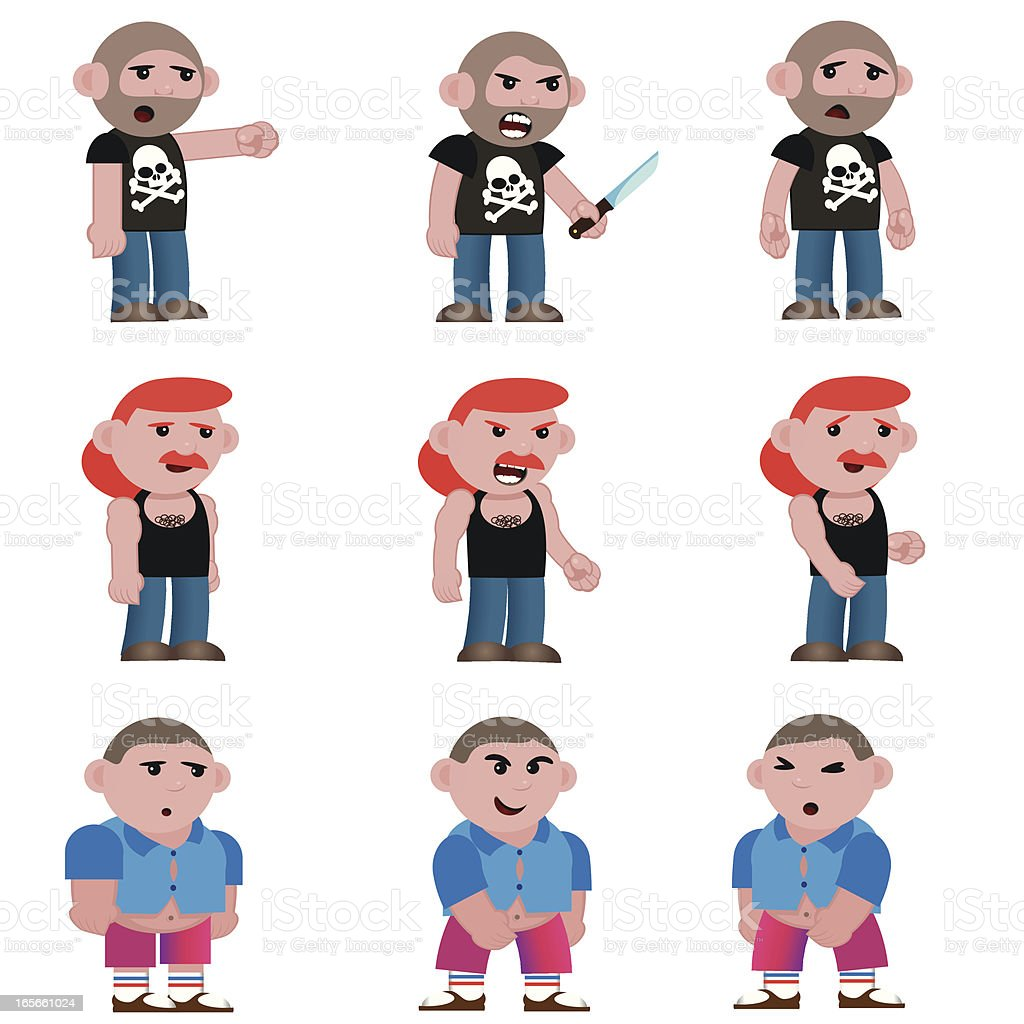 ugly guys royalty-free stock vector art