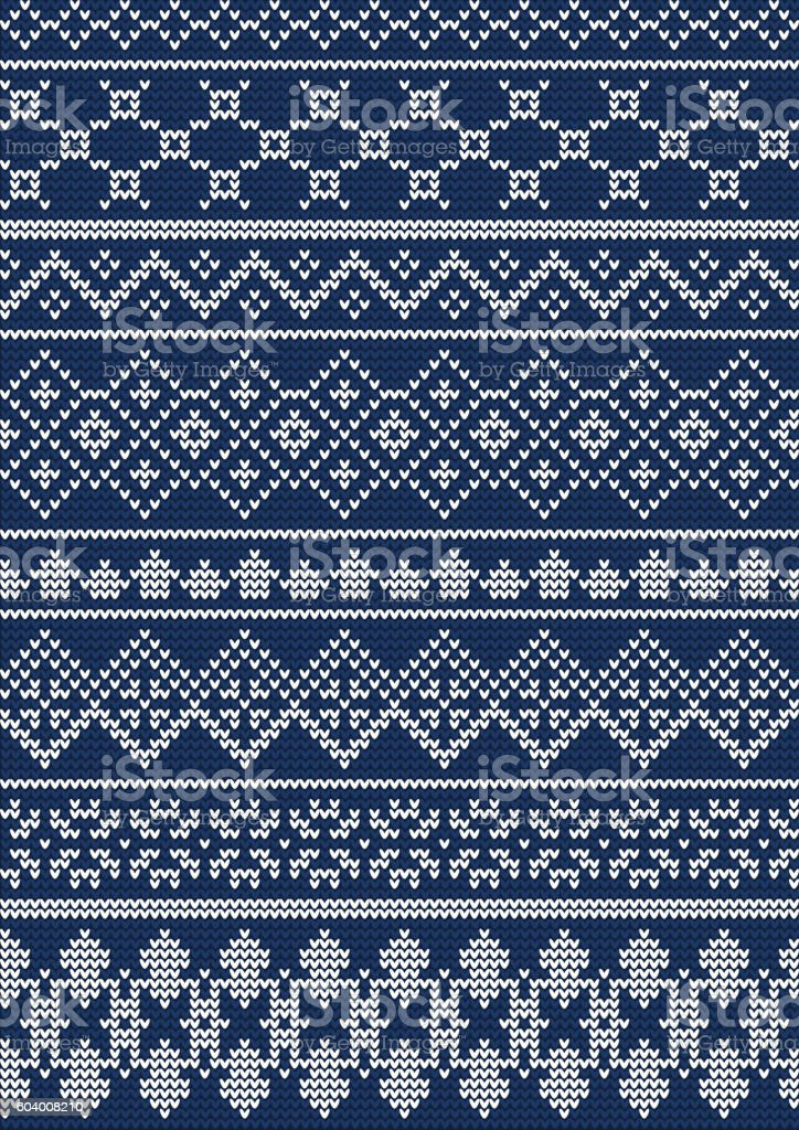 Ugly sweater Pattern 1 vector art illustration