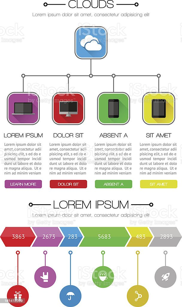 Ui, infographics and web elements royalty-free stock vector art