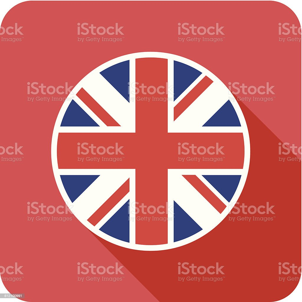 uk flat flag icon vector art illustration