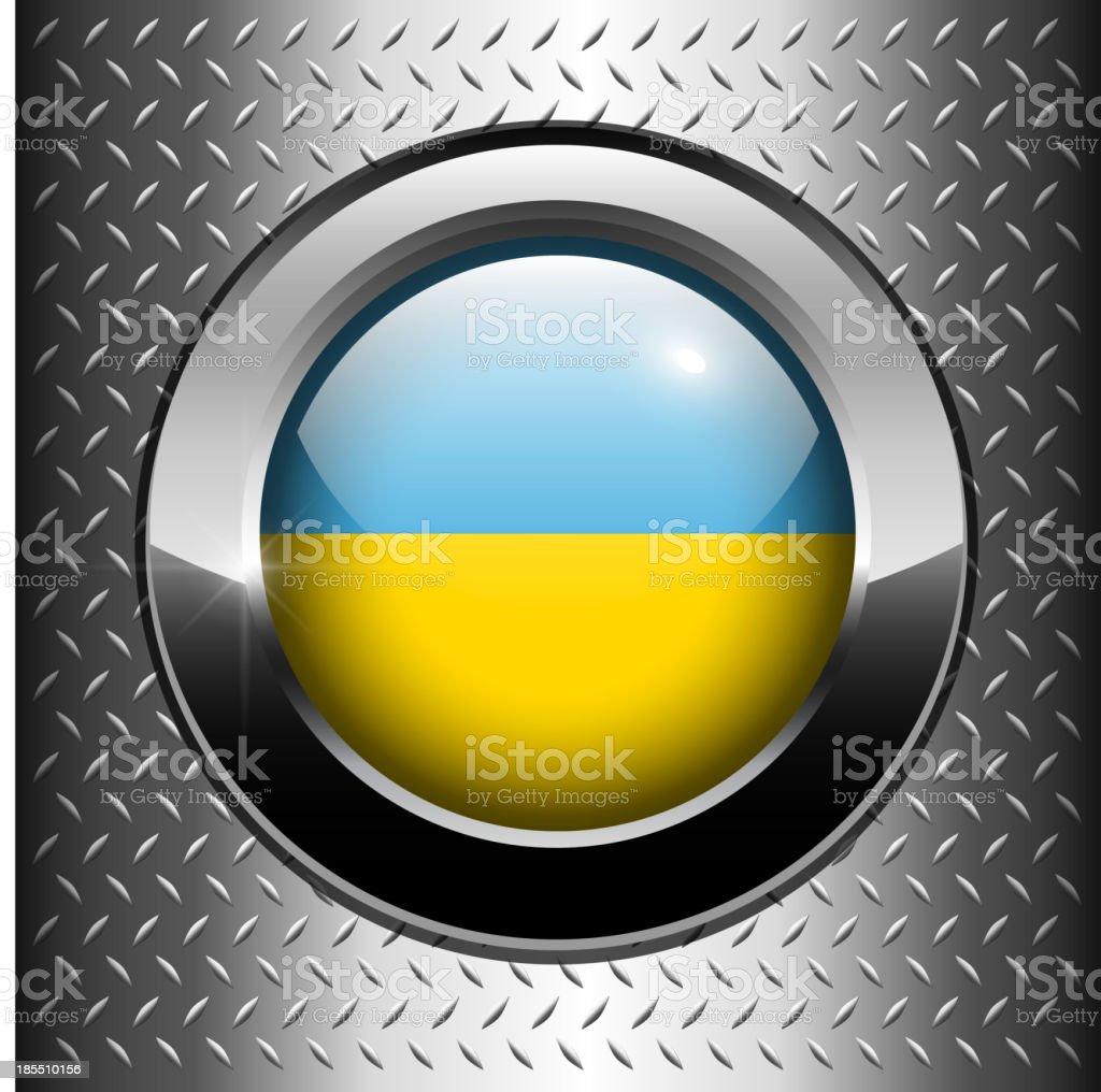 Ukraine flag button royalty-free stock vector art
