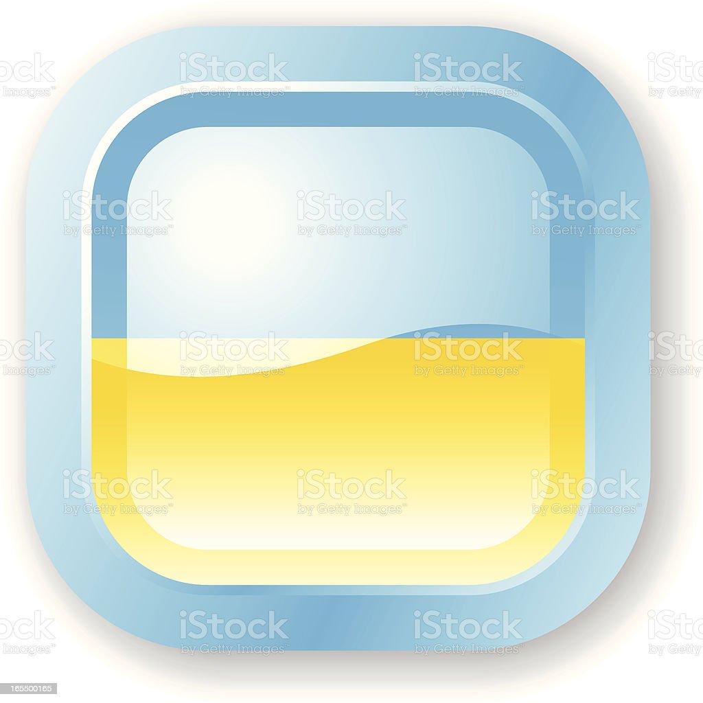 Ukraine Flag Icon royalty-free stock vector art