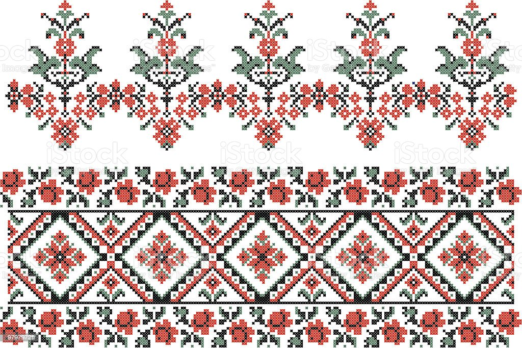 Ukrainian embroidery royalty-free stock vector art