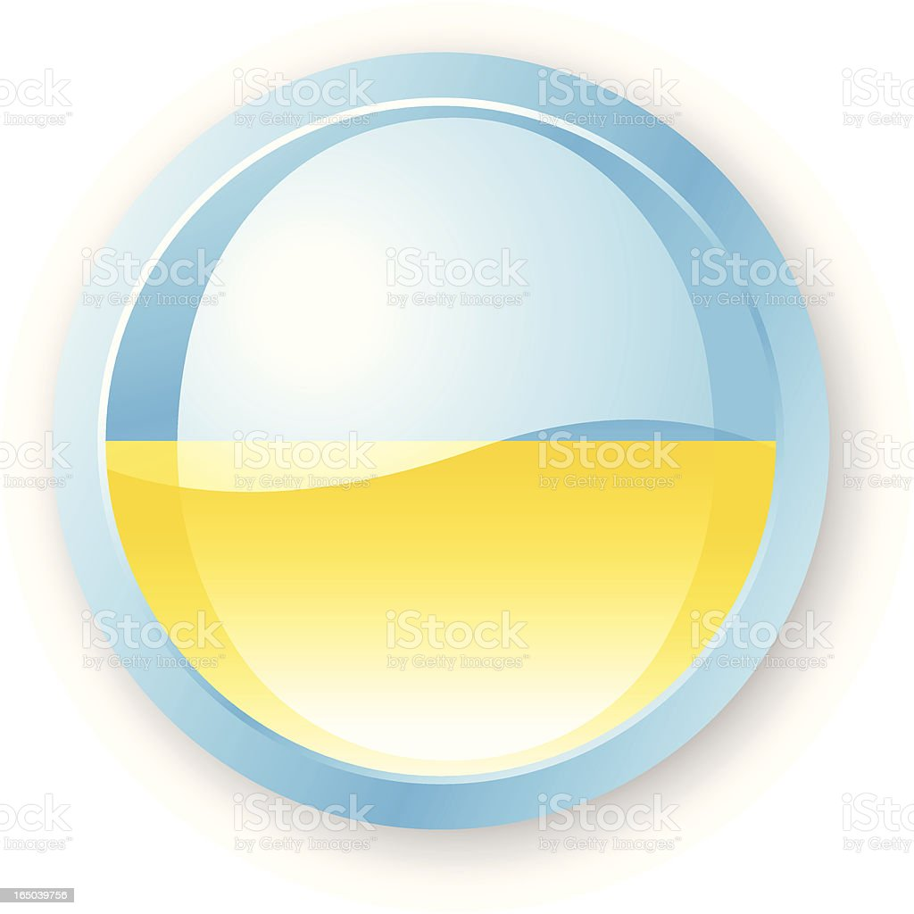 Ukrainian Flag Icon royalty-free stock vector art