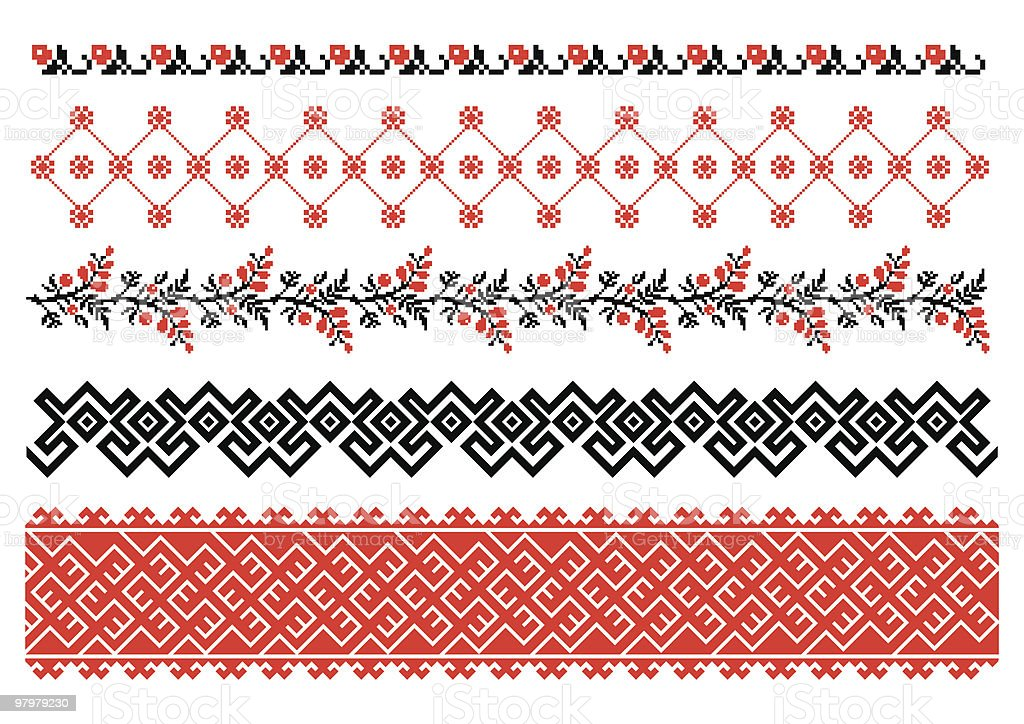 Ukrainian ornamental pattern royalty-free stock vector art