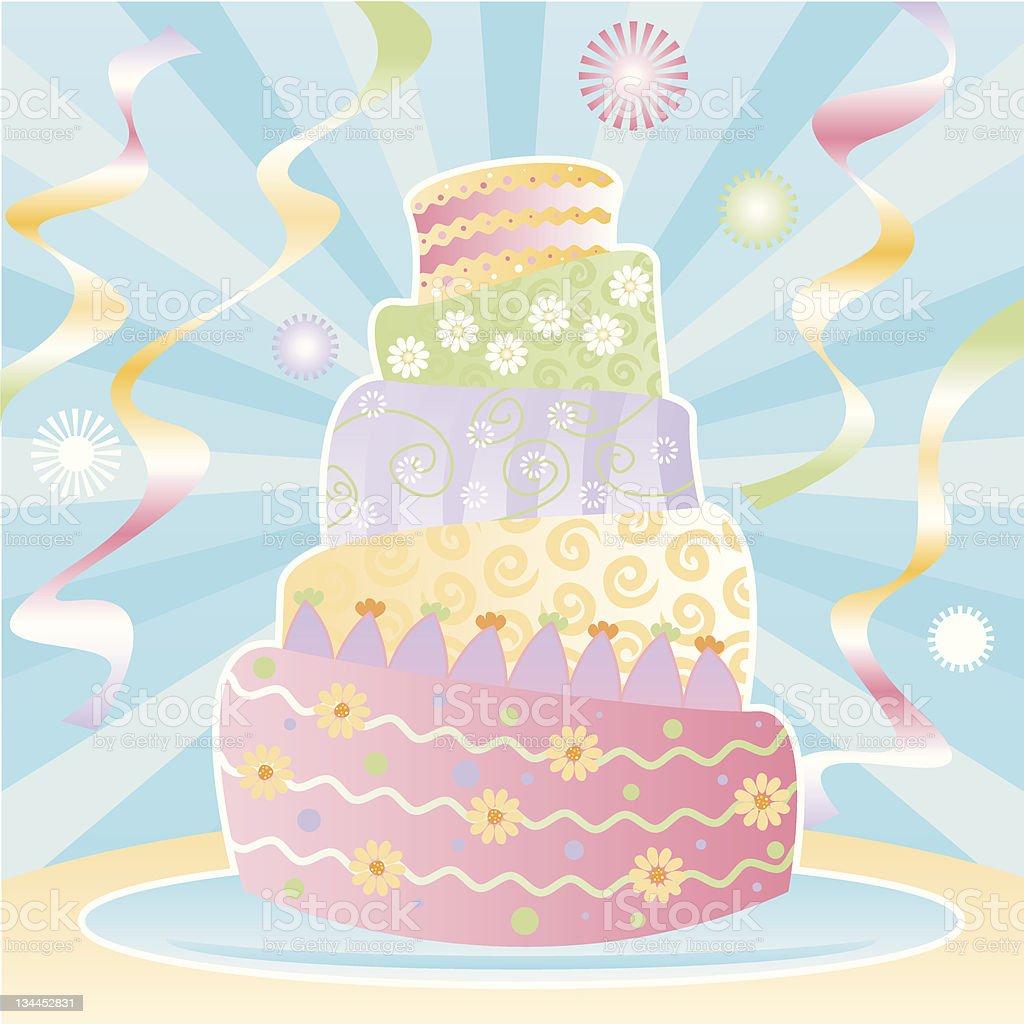 Ultimate Birthday Cake royalty-free stock vector art