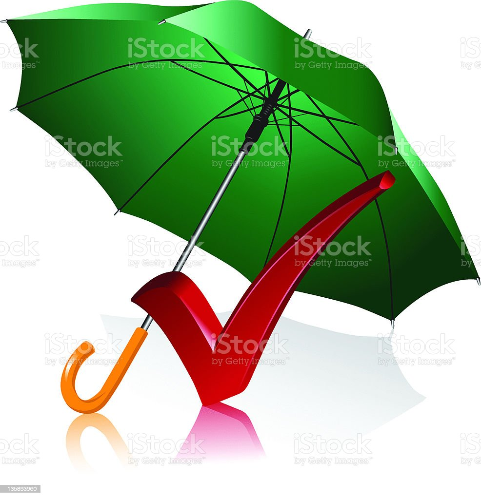 umbrella and check royalty-free stock vector art