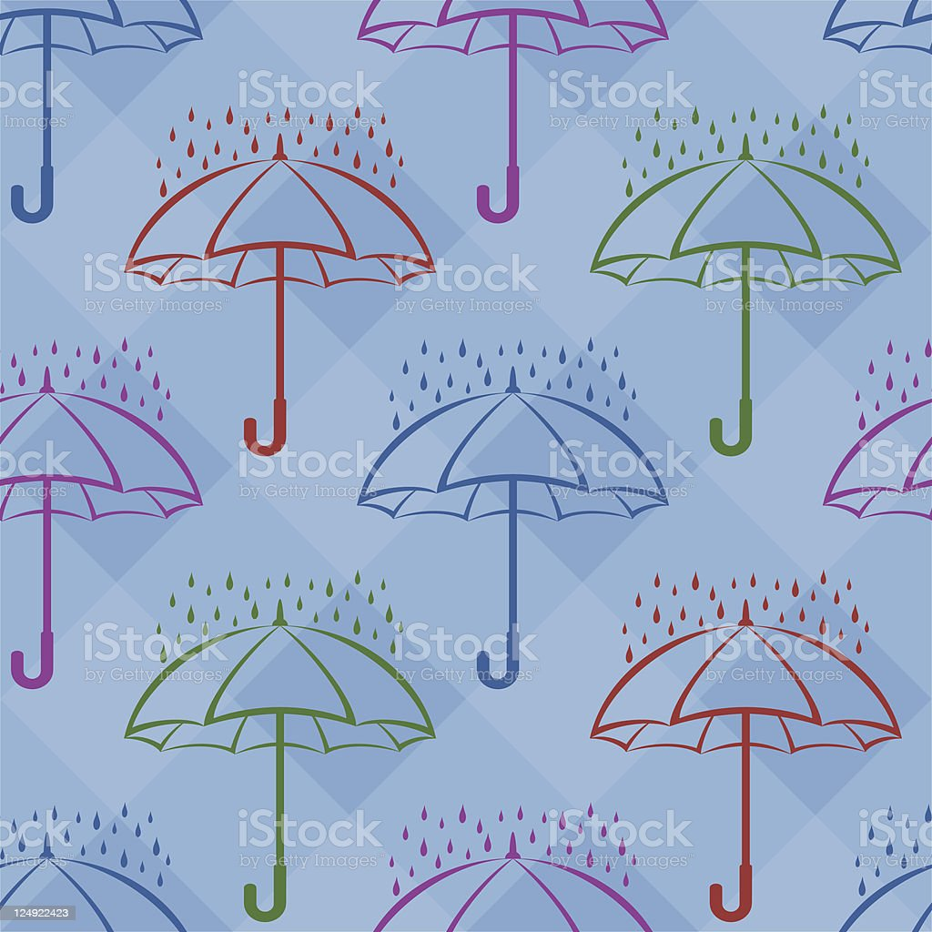 Umbrella and rain, background royalty-free stock vector art